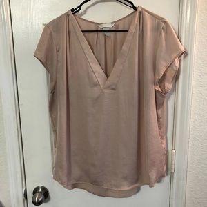 V-neck silky pink blouse H&M sz 14